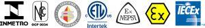 INMETRO, SIL 3, ETLO, NEPSI, EX, IECEx Certifications